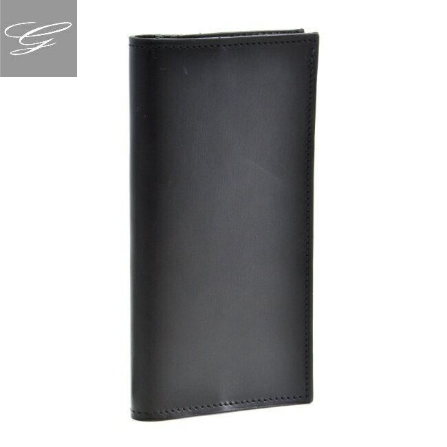 グレンロイヤル/GLENROYAL 財布 メンズ ブライドルレザー 2つ折り長財布 ブラック 035594-0001-0002