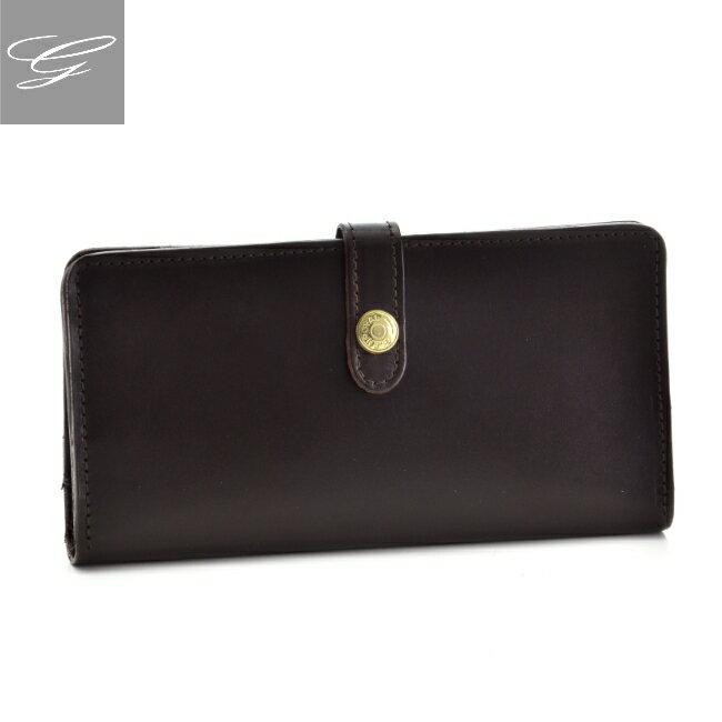 グレンロイヤル/GLENROYAL 財布 メンズ ブライドルレザー 2つ折り長財布 ダークブラウン 036178-0001-0001
