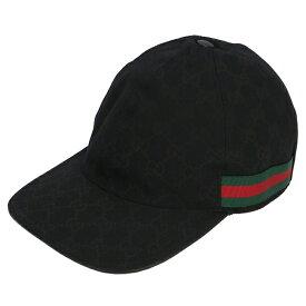 グッチ/GUCCI 帽子 メンズ ベースボールキャップ NERO/VRV 200035-KQWBG-1060