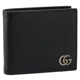グッチ/GUCCI 財布 メンズ Men'S Gg Marmont 二つ折り財布 NERO 2021年秋冬新作 428725-0YK0N-1000
