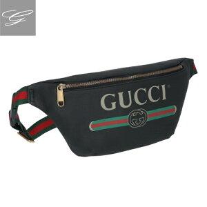 【20SS SALE】グッチ/GUCCI バッグ メンズ Gucci Print ボディバッグ/ウエストポーチ NERO 2020年春夏 530412-0GCCT-8164【ロゴアイテム】