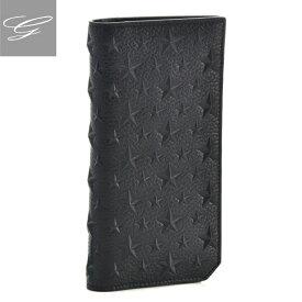 【20SS SALE】ジミーチュウ 二つ折り長財布 JIMMY CHOO 財布 メンズ ブラック COOPER-EMG-0001