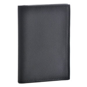 ヴァレクストラ カードケース VALEXTRA パスポートケース メンズ ソフトカーフスキン ブラック V2L49-028-000N