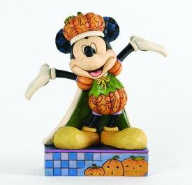 ジムショア ミッキーマウス カボチャの王様 ハロウィン ディズニー 4033279 The Pumpkin King Harvest Mickey Mouse Figurine JimShore □