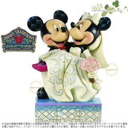 ジムショアおめでとう、ミッキーとミニーの結婚式ディズニー結婚祝いにおすすめ4033282Congratulations-MickeyAndMinnieWeddingJimShore□