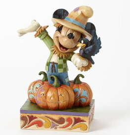 ジムショア ミッキーマウス かかしの収穫 ハロウィン ディズニー 4039066 Harvest Scarecrow Harvest Mickey Figurine JimShore □