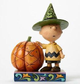ジムショア チャーリーブラウンとカボチャ ハロウィン スヌーピー 4045889 It's Halloween, Charlie Brown Charlie Brown with Pumpkin Figurine JimShore □