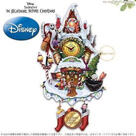 ディズニー ナイトメアー ビフォア クリスマス 壁時計 Nightmare Before Christmas Wall Clock With Lights And Music 鳩時計 jack and sally 特別予約生産販売品 【ポイント最大44倍!お買い物マラソン セール】