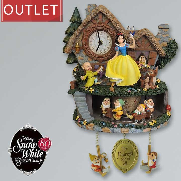白雪姫と7人の小人 壁時計 鳩時計 ディズニー Disney Snow White Illuminated Musical Wall Clock With Motion ウォールクロック 振り子時計□