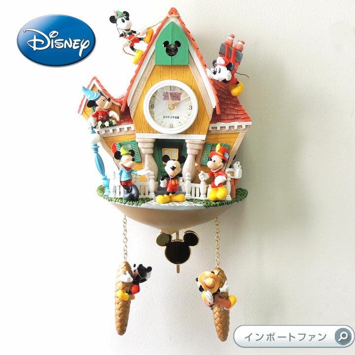 ミッキーマウス 壁時計 鳩時計 ディズニー 122176001 Disney Mickey Mouse Through The Years Wall Clock□