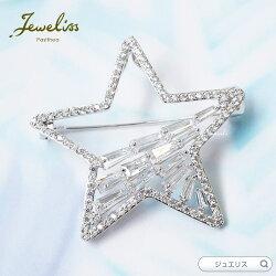 Jewelissメテオール星クリスタルブローチジュエリス【あす楽】□