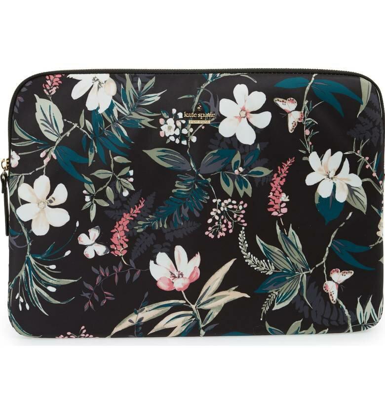 Kate Spade ケイトスペード ボタニカル ナイロン ユニバーサル ラップトップ スリーブ Botanical Nylon Universal Laptop Sleeve □