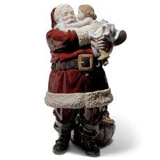 リヤドロ幸せを届けに01001960LLADROクリスマスサンタクロース□