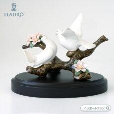 *リヤドロ桜の唄01008422◆LLADRO◆白い鳩桜コレクション