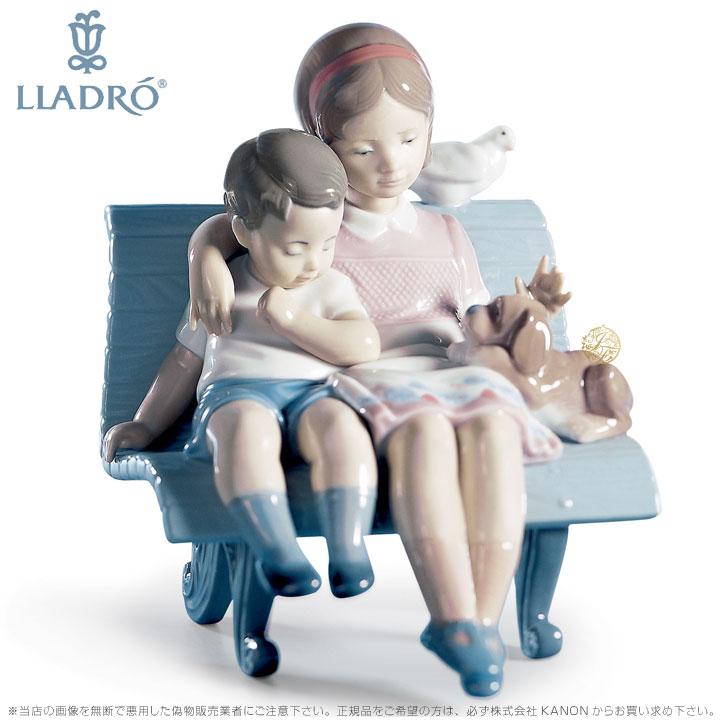 リヤドロ やすらぎ 少女 少年 6446 LLADRO SURROUNDED BY LOVE □