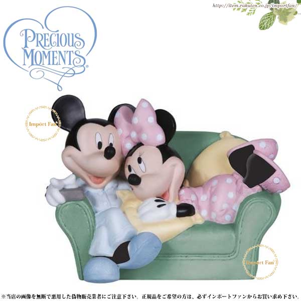プレシャスモーメンツ ミッキー ミニー Together Is The Nicest Place To Be 131700 ディズニー Precious Moments Mickey and Minnie □