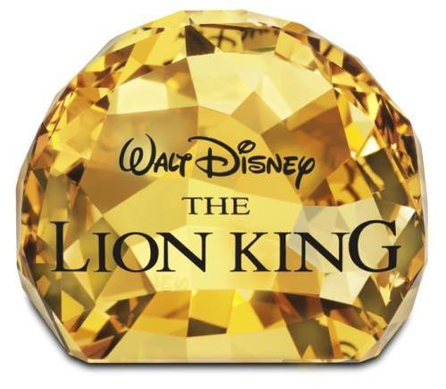*スワロフスキー Swarovski ディズニー Disney ライオンキング タイトルプレート 1055087 □
