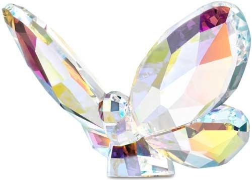 スワロフスキー Swarovski オーロラ バタフライ 蝶 Aurora Borealis 953056□