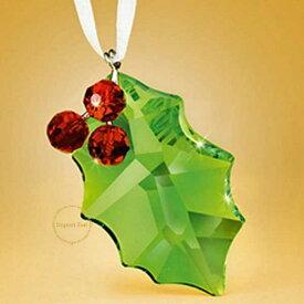 スワロフスキー 置物 Swarovski ホリー 870001 ヒイラギ クリスマスオーナメント 2011年限定 □ 即納