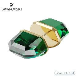 スワロフスキールーセントスタッドピアスシングルグリーン5600256Swarovski□