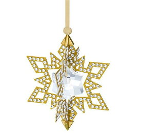 スワロフスキー クリスマスオーナメント スター ゴールド 5135809 Swarovski Christmas Ornament Star, Gold Tone□