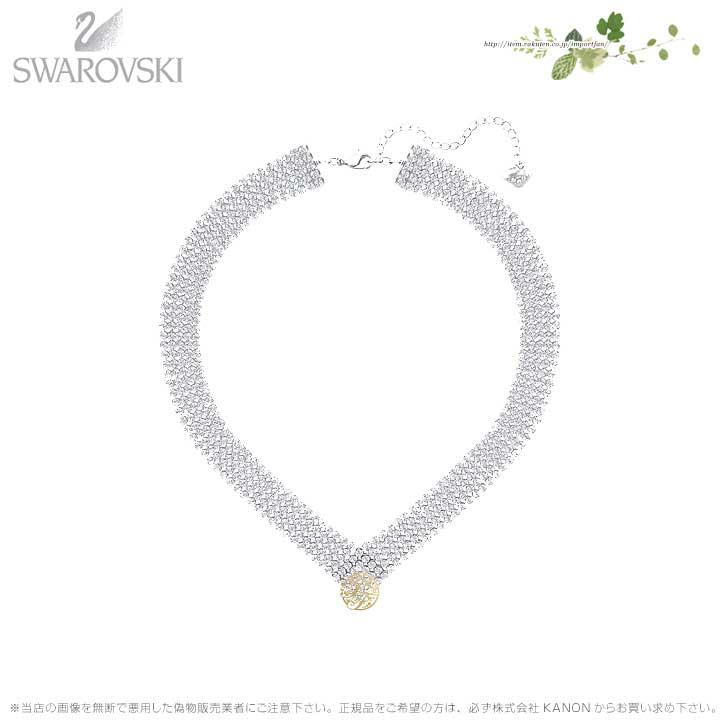 スワロフスキー フィット ネックレス ホワイト 5289715 Swarovski □