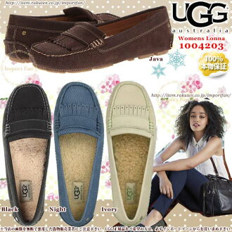 * UGG UGG genuine ◆ LONNA ronna leather flat shoes 1004203 ◆ indoor & outdoor □