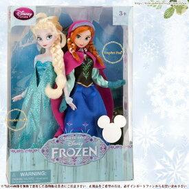 ディズニーストア海外正規品 アナと雪の女王 アナ&エルサ 2体セット 12インチ 約30.5cm 人形 ドール フィギュア Disney ディズニー クリスマス プレゼント □