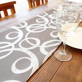 テーブルランナー おしゃれ テーブルクロス 真ん中 敷き物 布 長い和 モダン グレー テーブル装飾 インテリア雑貨 テーブルコーディネート ギフト おもてなし 和柄 ダイニング テーブルセンター プレゼント