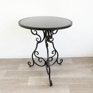 ガーデンテーブル おしゃれ アイアン コーヒーテーブル アイアンテーブル アンティーク調 モダン カフェ風 マーブルトップ 丸形 おすすめ 人気
