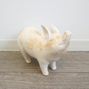 置物 おしゃれ インテリア ブタ かわいい 人形 陶器 オブジェ 玄関 オーナメント リビング アンティーク調 ディスプレイ 小物 おすすめ プレゼント 動物 ラッピング