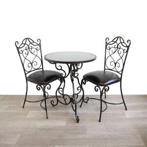 イス/テーブルセット ガーデンテーブル チェアー コーヒーテーブル アイアンテーブル アンティーク調 アイアン おしゃれ モダン カフェ風 ガーデンファニチャー ダイニング