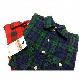 CAMCO(カムコ)Heavy NEL Shirts(ヘビーネルシャツ)ブラックウォッチ バッファローチェック ブロックチェック 赤×黒 XS〜XL