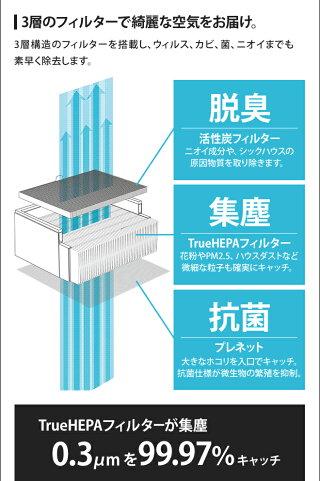 空気清浄機BALMUDAThePureバルミューダザピュアPM2.5タバコ消臭脱臭フィルター花粉HEPAフィルター36畳空気清浄器デザインシンプルおしゃれ