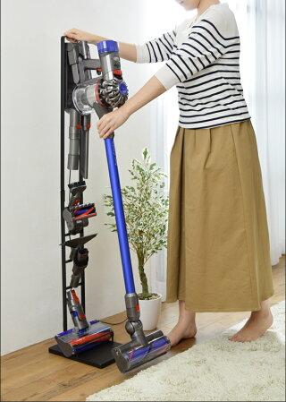 コードレス掃除機スタンドコードレスクリーナースタンド掃除機クリーナーツールスタンドノズル収納towerタワーホワイトブラック