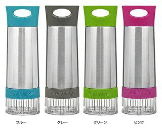 【マグボトル】アクアジンガーフレーバーボトルフレーバーウォーター400ml水筒アウトドアキャンプ手作り自家製フルーツ果物ステンレス