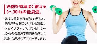 ルルドシェイプアップリボンems2個セットダイエット腹筋ジェルパッド振動二の腕エクササイズマシンフィットネスAX-KXL5200◆メール便配送◆