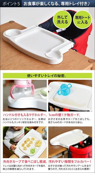 テーブルチェア/トレイ付きVitaヴィータテーブルチェアとトレイのセットママらくトレイトレー付きテーブルチェアBellunicoベルニコ出産祝離乳食ベビーチェアトレイ付き