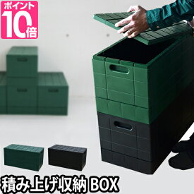 収納ボックス グリッドコンテナー フタ付き プラスチック 収納ケース 衣装ケース 折りたたみ スツール I'm D(アイムディー)