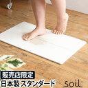 バスマット soil(ソイル) GEM バスマット スタンダード 珪藻土 ひる石 速乾 お風呂 マット 足拭きマット 大きい 吸収 吸水マット