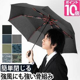折りたたみ傘 高強度折りたたみ傘 ストレングスミニ mabu マブ セミオートクローズ グラスファイバー 丈夫 大きい