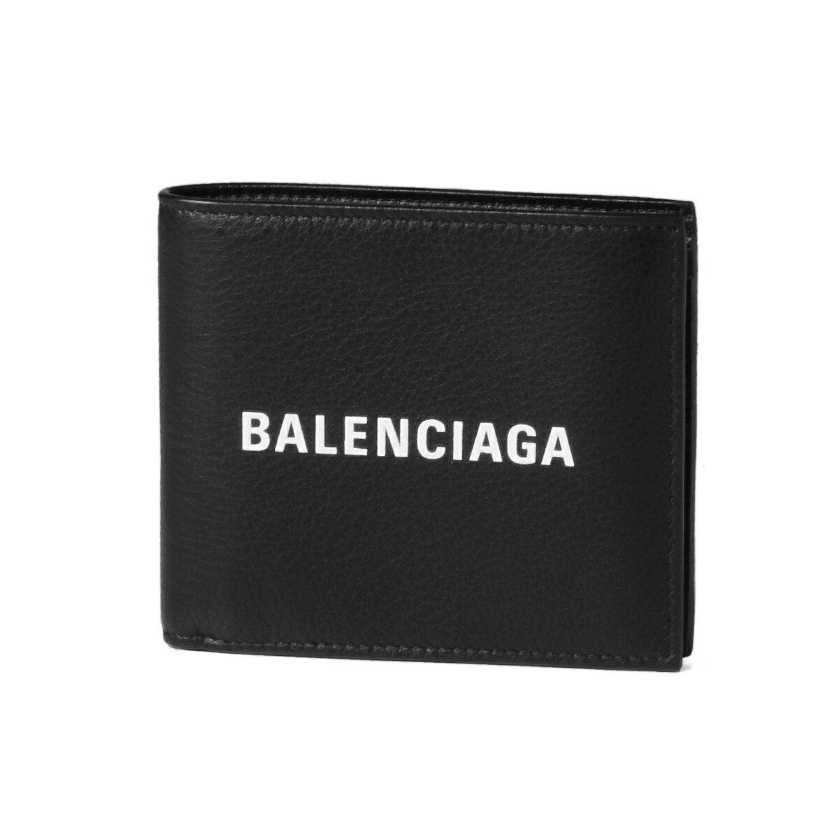 バレンシアガ BALENCIAGA 財布 メンズ 485108 DLQHN 1060 二つ折り財布 EVERYDAY エブリデイ NOIR/L BLANC ブラック