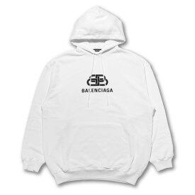 バレンシアガ BALENCIAGA パーカー メンズ 570811 TEV19 9044 フード付 長袖パーカー WHITE ホワイト