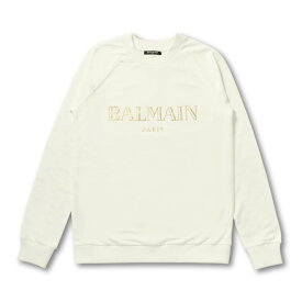 バルマン BALMAIN スウェット レディース RF13735I044 GAD 長袖スウェット BLAN ホワイト