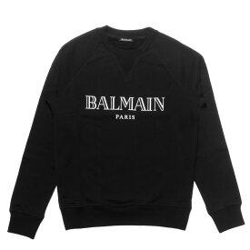 バルマン BALMAIN スウェット メンズ RH03279I127 EAB 長袖スウェット NOIR ブラック