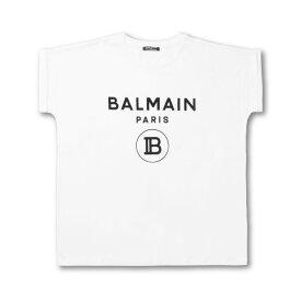バルマン BALMAIN Tシャツ レディース SF11367I193 GAB 半袖Tシャツ BLAN ホワイト