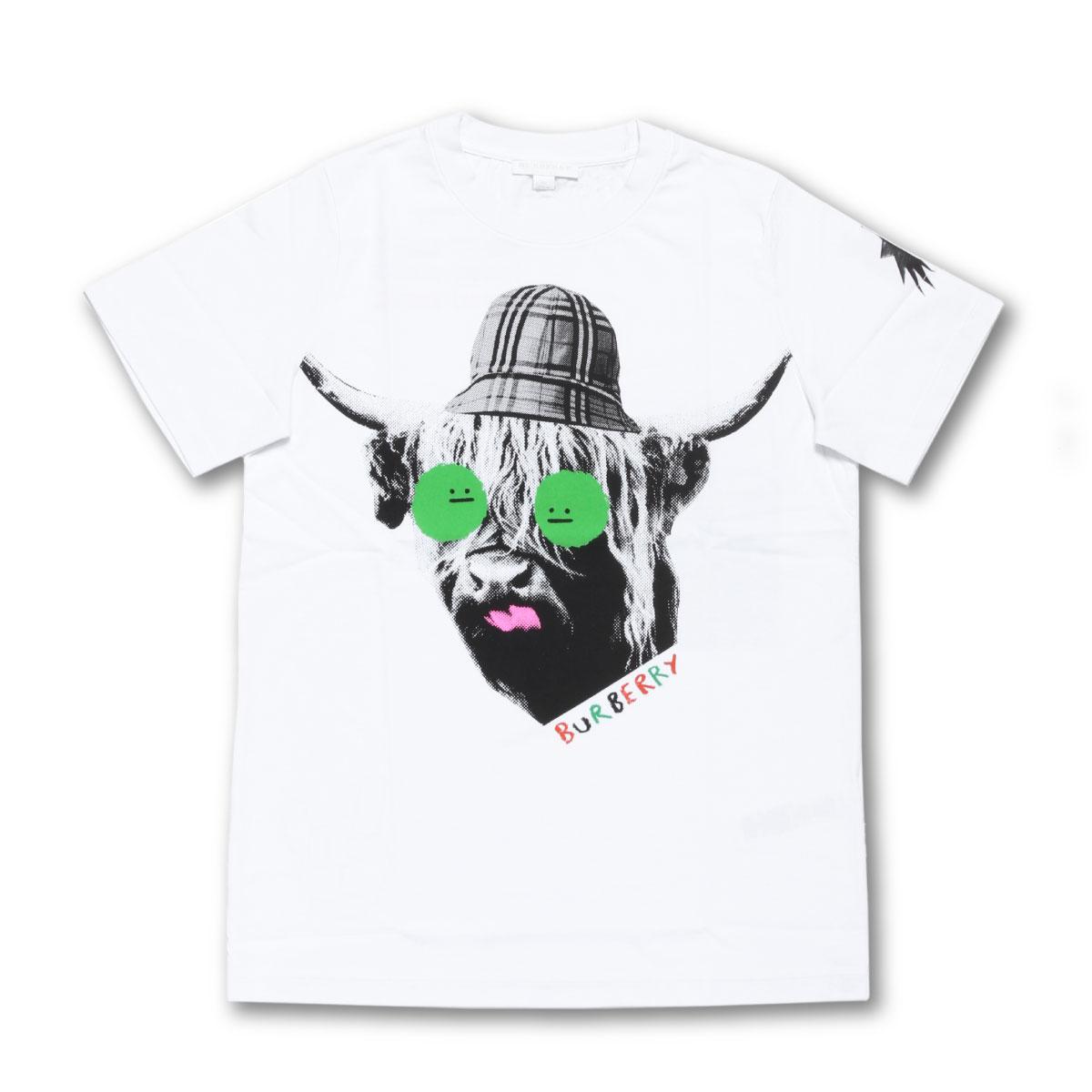 バーバリー BURBERRY Tシャツ キッズ ボーイズ ガールズ 8007092 半袖Tシャツ WHITE ホワイト 14A