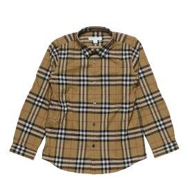 バーバリー BURBERRY シャツ キッズ ボーイズ 8001556 長袖シャツ ANTIQUE YELLOW ベージュ 8A-14A