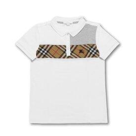 バーバリー BURBERRY ポロシャツ キッズ ボーイズ 8001081 半袖ポロシャツ WHITE ホワイト8A-14A