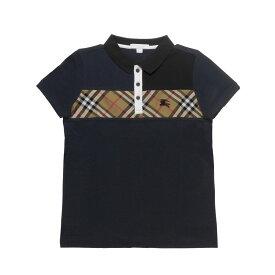 バーバリー BURBERRY ポロシャツ キッズ ボーイズ 8001082 半袖ポロシャツ NAVY ダークブルー 8A-14A
